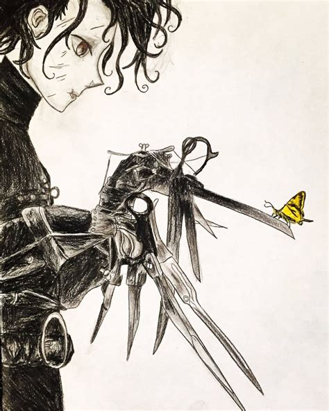 edward scissorhands anime drawing by kongzilla2010 on