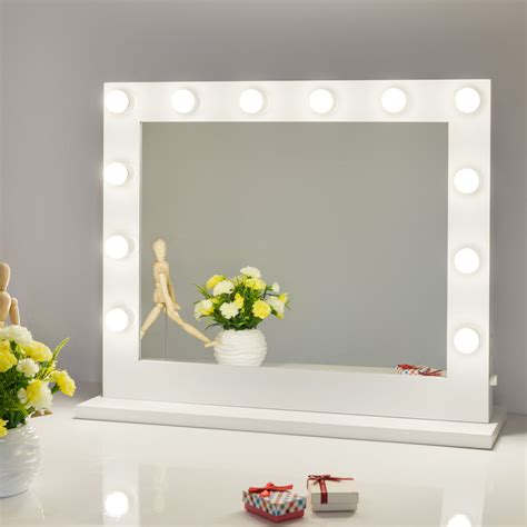 Vanity Mirror With Lights White Makeup Vanity Mirror With Light Stage Large Mirror Dimmer Ebay