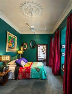 colorful bedroom green wall color can be reached by a trendy decor