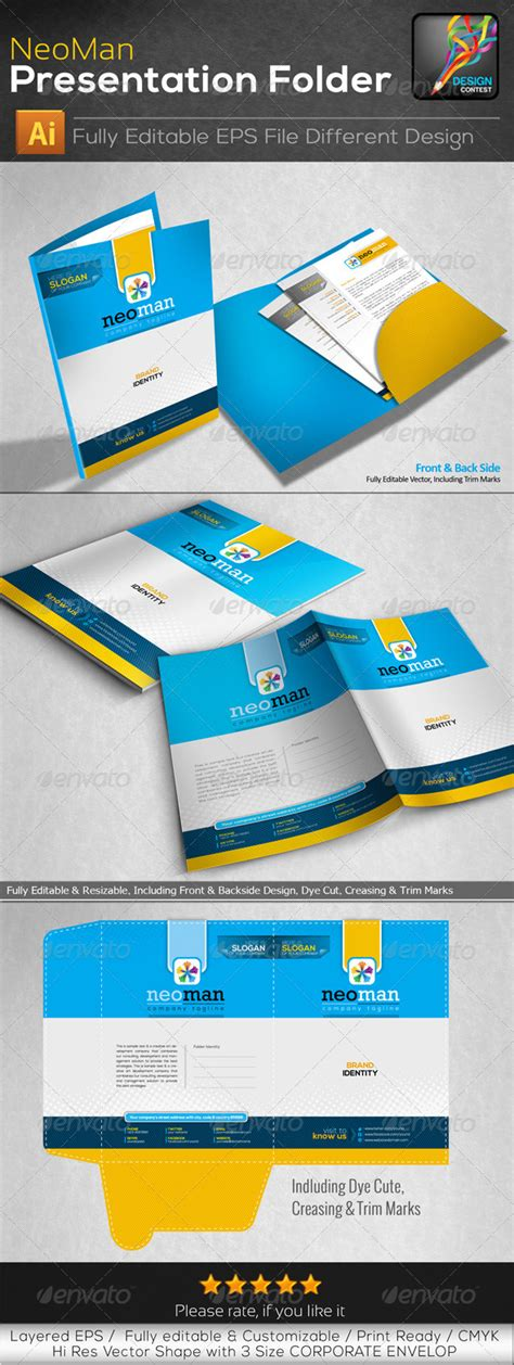 neoman corporate clean presentation folder graphicriver