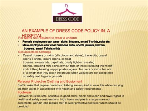 office dress code policy template dress code in hospitals
