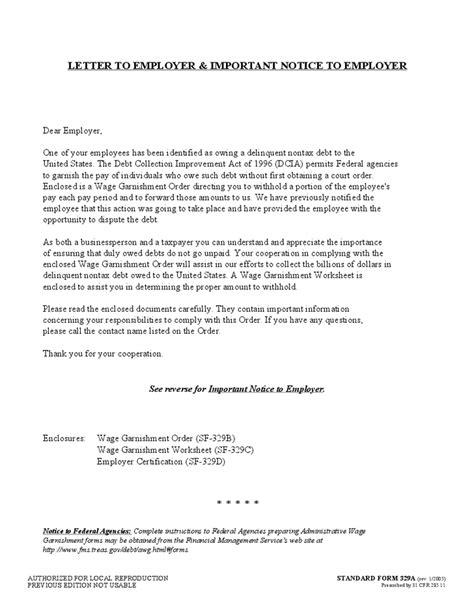 Wage Garnishment Worksheet Sf 329c