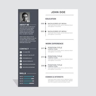Gratis Cv Sjabloon Downloaden Word creatieve cv sjabloon downloaden gratis psd bestanden