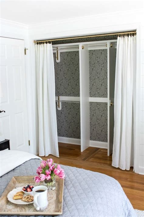 Replace Closet Doors With Curtains 25 Best Ideas About Curtain Closet On Cheap Window Treatments Closet Door Curtains