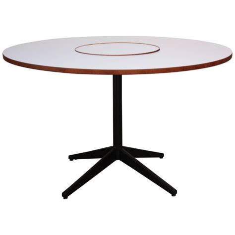 George Nelson Table L by George Nelson For Herman Miller Lazy Susan Table At 1stdibs
