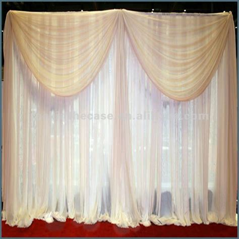 podium drape wedding backdrop stand background drape white curtain and