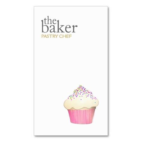 pastry chef business card templates cupcake catering pastry chef baking business card simple