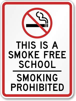 List Of Corporate Giveaways Supplier Philippines - school no smoking sign this is a smoke free school smoking prohibited