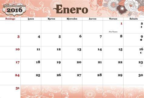 calendario para imprimir 2016 mes por mes irka calendario 2016 para imprimir
