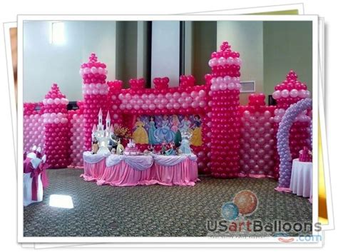 princess castle balloon decor centerpieces and ballon d or