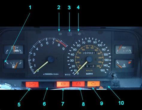 Toyota Instrument Panel Lights Mr2 Mk1 Warning Lights