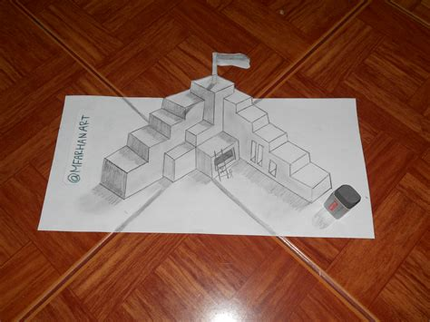 Sketches 3d Easy by 3d Drawing Simple By Muhamadfarhanali On Deviantart