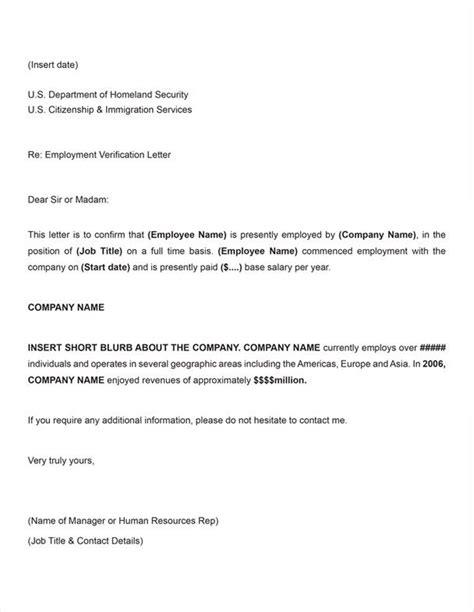 Free Printable Employment Verification Letter