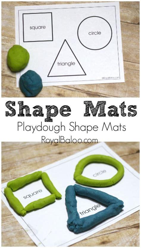 printable playdough math mats free printable shapes mats for playing with playdough