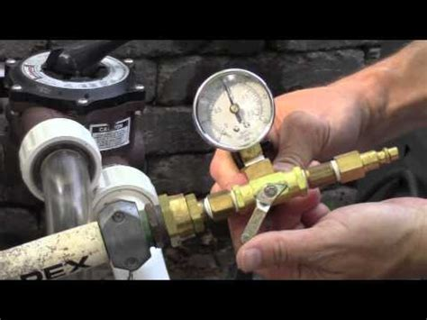How To Pressure Test Plumbing With Air by Pressure Testing Swimming Pool Plumbing