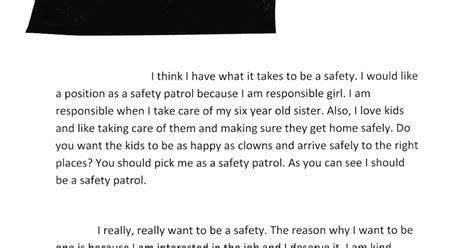 School Safety Essay by The Letter That Landed My On The Safety Patrol Pieces Of A