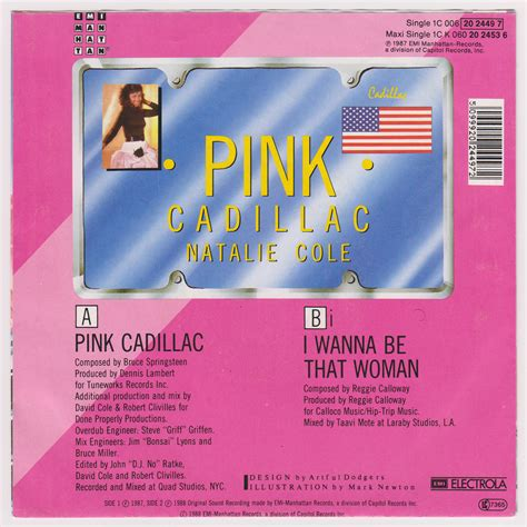 Pink Cadillac Song Original by Bruce Springsteen Collection Natalie Cole Pink Cadillac