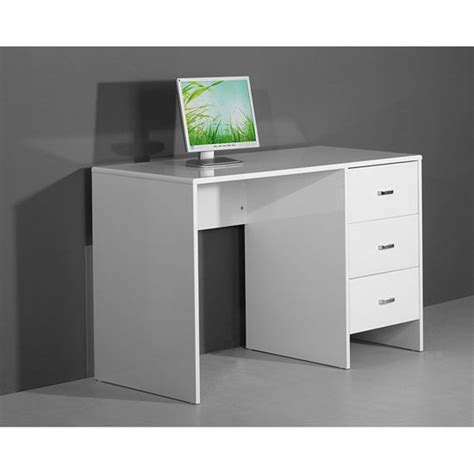 sphere white high gloss computer laptop work desk