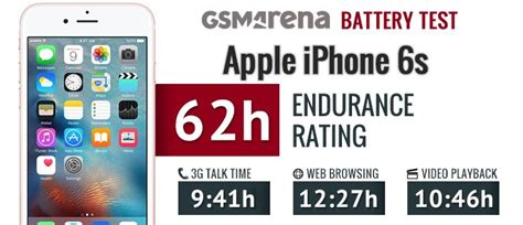 apple iphone 6s battery test gsmarena