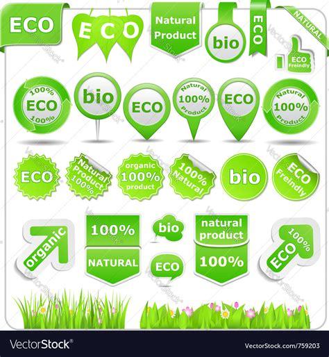 eco design elements vector green eco design elements vector art download icon