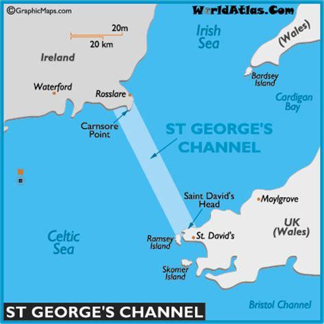 channel map map of st george s channel st george s channel map location facts st george s channel