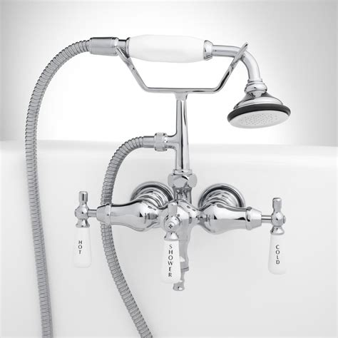 woodrow wall mount tub faucet and shower bathroom