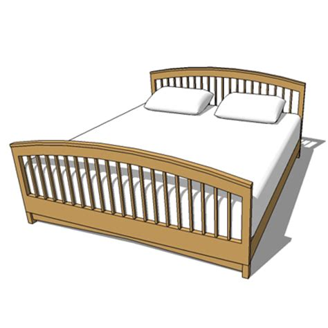 types of bed frames double bed frame type 4 3d model formfonts 3d models