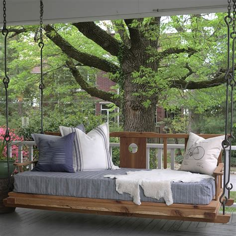 hanging bed swing outdoor porch beds that will make nature naps worth it