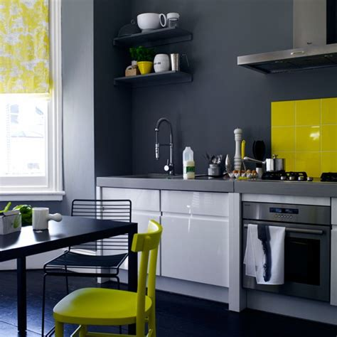 yellow and grey kitchen ideas industrial chic kitchen painted kitchens 10 of the