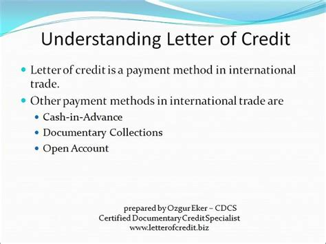 Letter Of Credit Used In International Trade What Is Letter Of Credit Presentation 2 Lc Worldwide