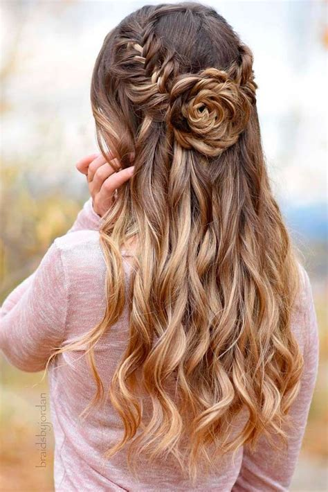 Homecoming Hairstyles Half Up Half by Best 25 Half Up Half Ideas On