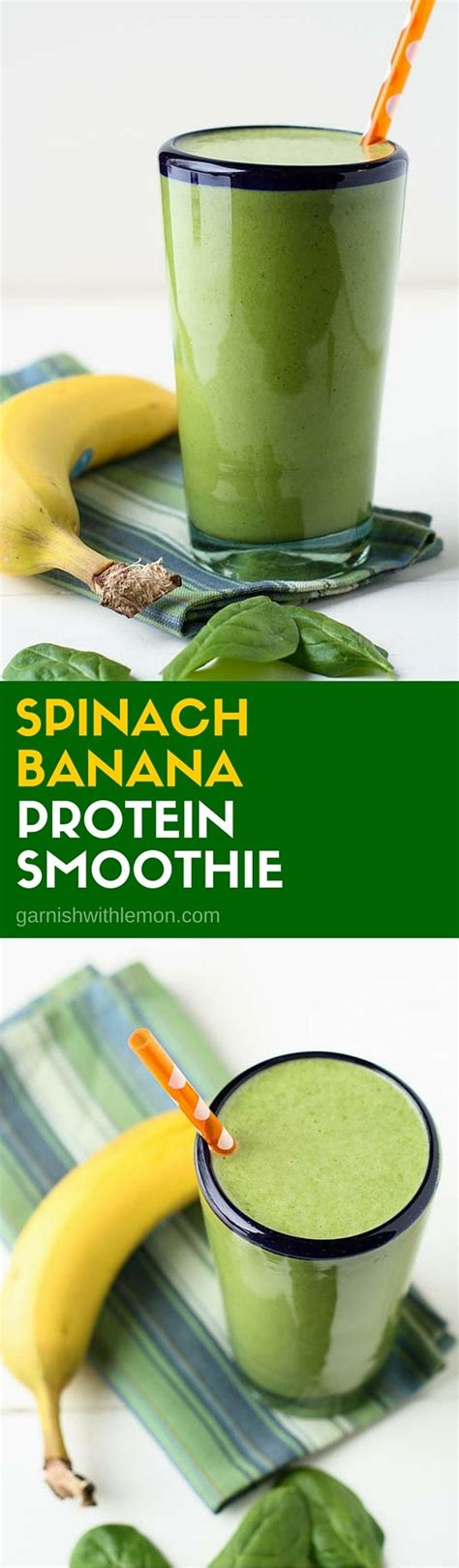 protein in spinach spinach banana protein smoothie