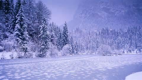 Frozen River Wallpaper   snowy mountains wallpaper 24612
