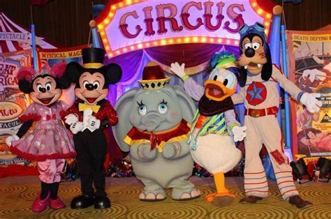 Disney Circus storybook circus characters appearance of dumbo