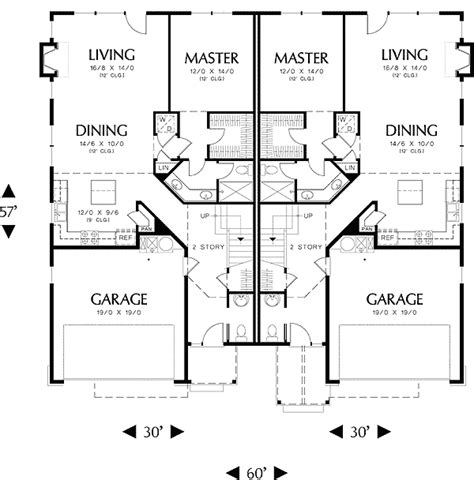high ceiling house plans high ceiling duplex with options 6984am 1st floor master suite butler walk in