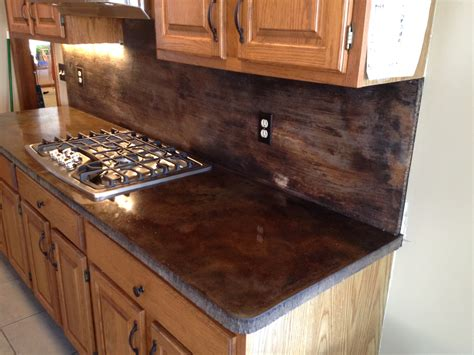 counter tops acid stain concrete countertops claussdesigns com