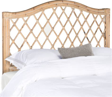 white wicker headboards safavieh gabrielle white washed wicker headboard