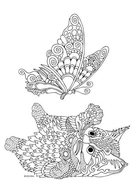 kocka  cats dogs coloring pages  adults pinterest