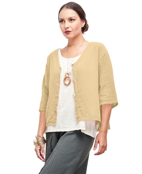 Cotton Tunik Blazer oh my gauze ronie blouse or jacket tunic top 100 cotton lagenlook