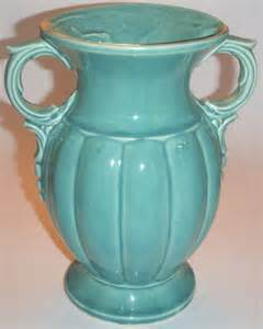 mccoy pottery green vase the colonial shop