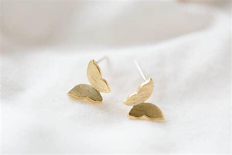 butterfly earring jewelry earrings studs post