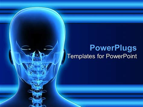 powerpoint templates x ray powerpoint template x ray of human head taken from