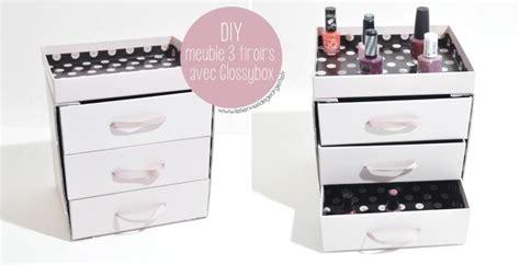 meuble avec beaucoup de tiroirs diy meuble 3 tiroirs avec glossybox paperblog