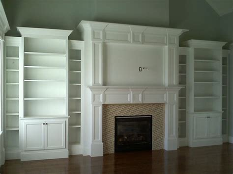 fireplace built ins traditional family room boston