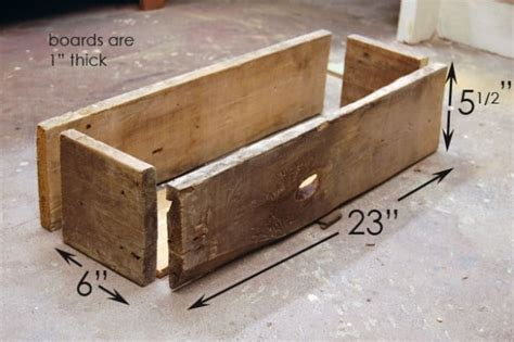 Planter Box Bottom by How To Build A Simple Rustic Planter Box The Of Doing
