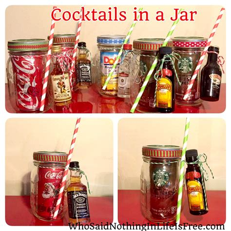 diy holiday gift idea cocktails in a jar who said