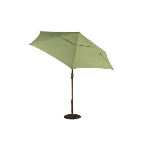 Hton Bay Clairborne 9 Ft Patio Umbrella In Moss Home Depot Patio Umbrella
