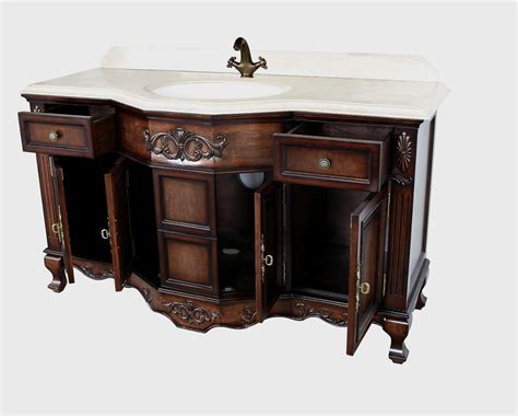Montage Antique Style Bathroom Vanity Single Sink 60 Quot Style Bathroom Vanity