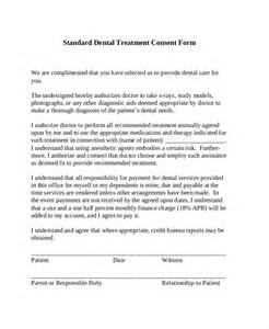 Standard Consent Form Template by Sle Dental Consent Forms 10 Free Documents In Pdf