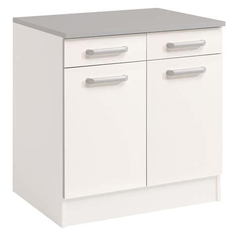 petit meuble bas de cuisine meuble bas 2 tiroirs 2 portes 60 cm quot shiny quot blanc
